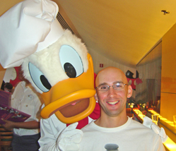 Brian and Chef Donald Duck