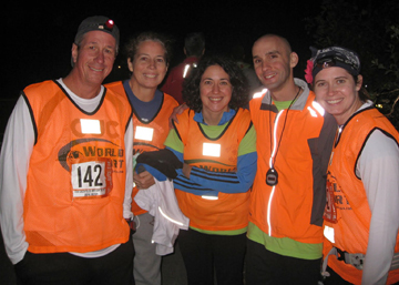 at Ragnar Relay in our reflective vests